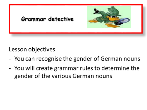 german nouns der die or das recognise gender create grammar