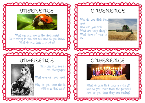 Inference Picture and Task Cards - Guided Reading