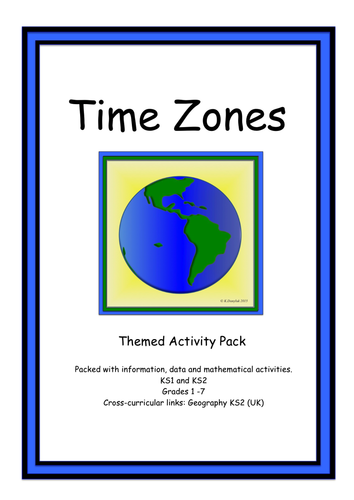 Primary maths resources world time zones activity pack for ks1 ks2 gumiabroncs Choice Image
