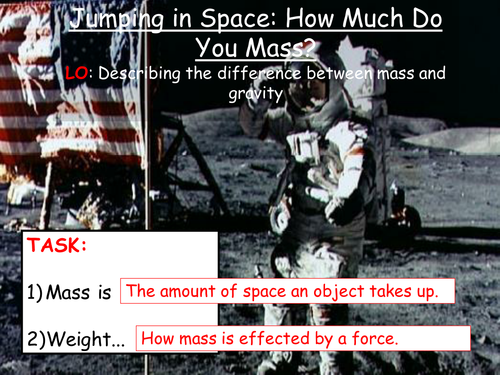 Jumping in Space: How Much Do You Mass?