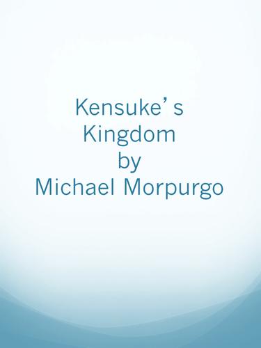Reading journal activity sheets- Kensuke's Kingdom by Michael Morpurgo
