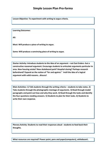 Writing to argue - made easy!