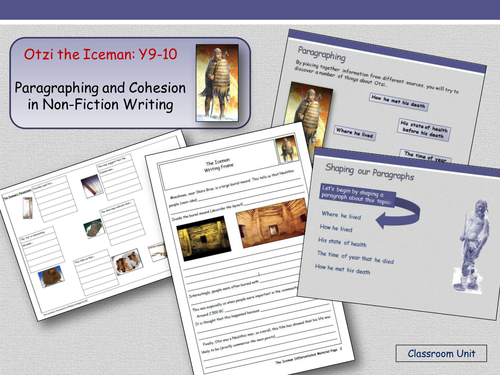 The Iceman Investigation - Paragraphing and Cohesion: (Years 9 and 10)