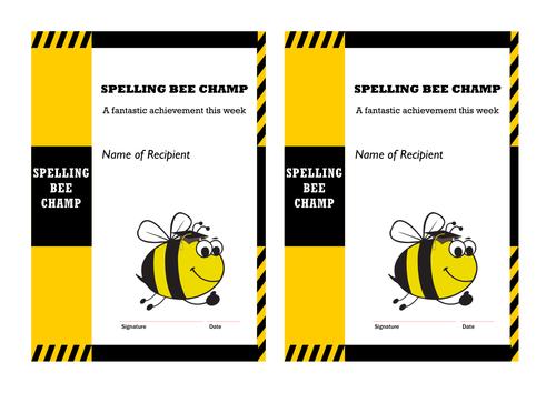 Complete Year 3 multi-task spelling bees scheme