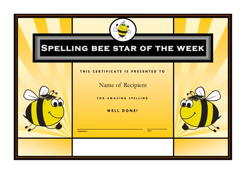 Complete Year 6 multi-task spelling bees scheme