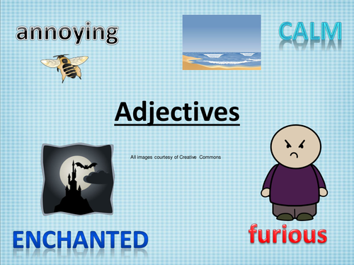 How to use adjectives and an introduction to descriptive writing