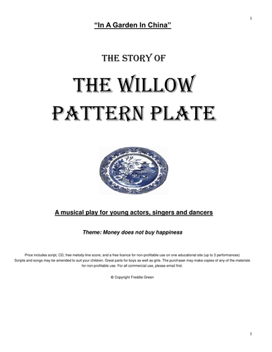In a Garden in China (The Willow Pattern Plate) Musical Play