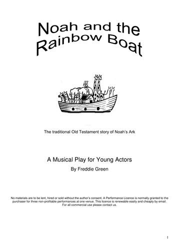Noah and the Rainbow Boat (KS2 Musical Play)