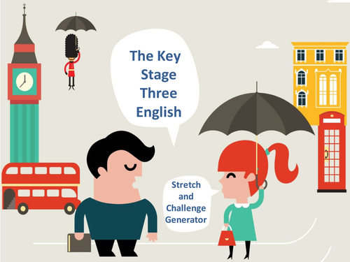 The Key Stage Three English Stretch and Challenge Generator