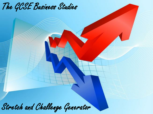 The GCSE Business Studies Stretch and Challenge Generator