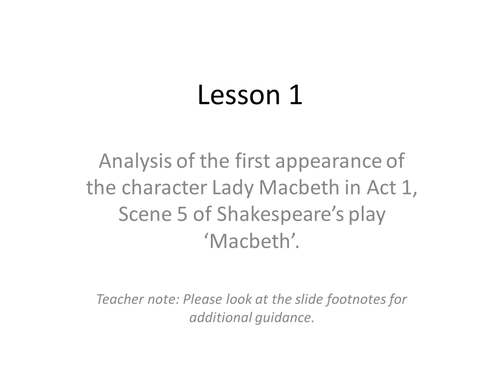 an analysis of the character of lady macbeth in william shakespeares play macbeth