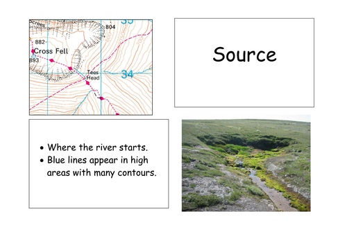 River Landform Features Card Sort (inc OS maps)