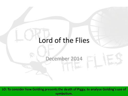 Lord Of The Flies Piggys Death By Lfernback Teaching Resources