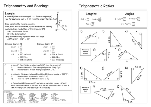 Trigonometry worksheet by Pebsy - Teaching Resources - Tes