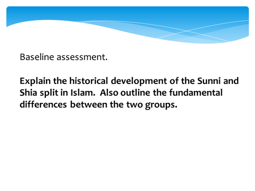 Sunni and Shia Development