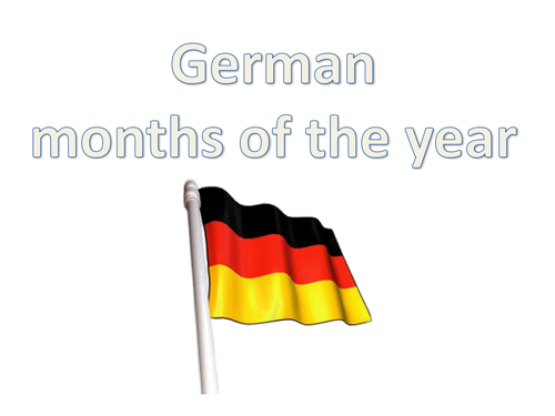 Months of the Year in German