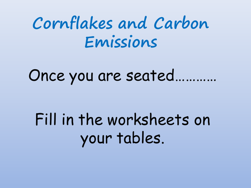 How does my breakfast contribute to CO2 emissions?