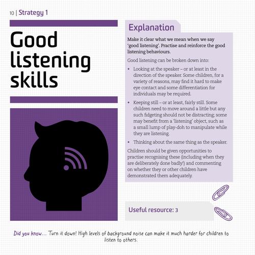 Talking Strategies: Good Listening