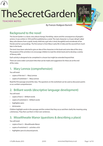 Business Essay Example The Secret Garden By Frances Hodgson Burnett Puffin Classics An Essay On Science also Purpose Of Thesis Statement In An Essay The Secret Garden Descriptive Writing Task By Traceyt  Teaching  Exemplification Essay Thesis