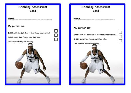 Basketball Dribbling Assessment Sheet