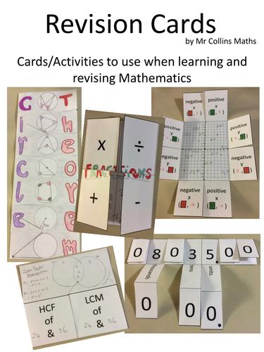 Mathematics Revision Cards/Activities Book
