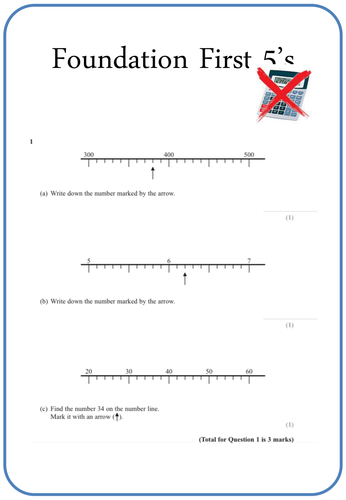Foundation revision - First 5's