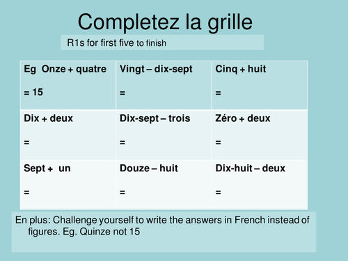 Number worksheets - French by frenchgerman - Teaching Resources - Tes
