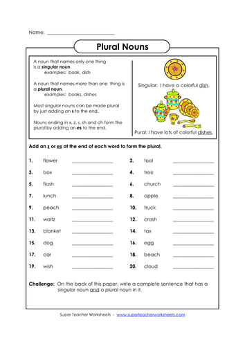Adding 'es' teaching plural by charlieray - Teaching Resources - TES
