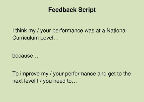 Peer Feedback Script