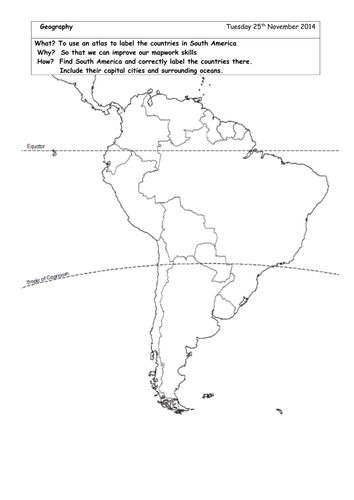 locate south american countries on blank map by brads72 teaching resources tes
