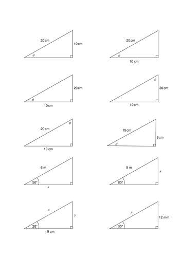 Which trig ratio? Activity/worksheet by purpleak | Teaching Resources