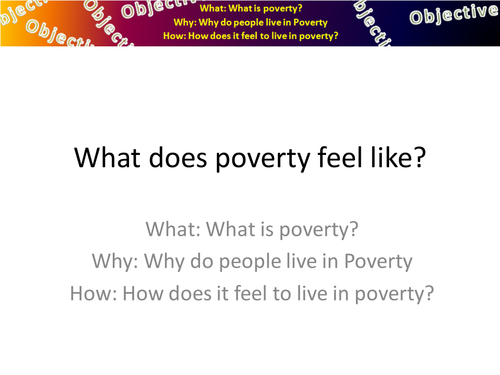poverty wealth geography pshe rs re SEN