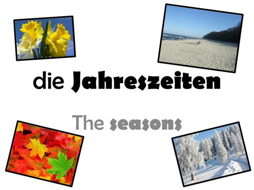 Seasons in German