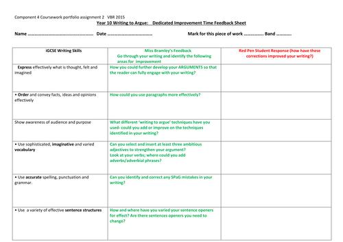 marking and feedback