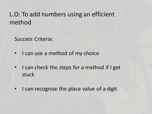 Minecraft Maths Addition