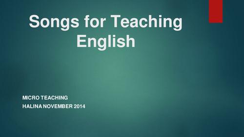 Songs for English Teaching