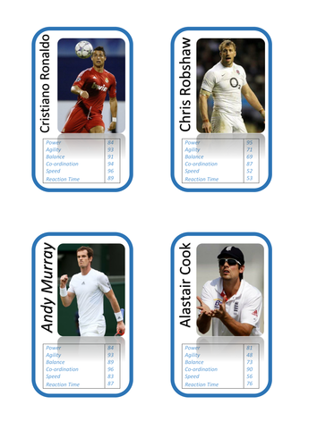 Component of Fitness Top Trumps