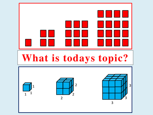 KS3 Square & Cube Numbers Lesson
