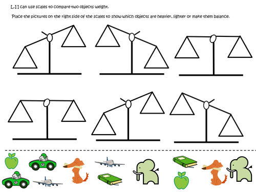 Balance Scales And Weight Yr 1 By Mrsteer Teaching Resources Tes