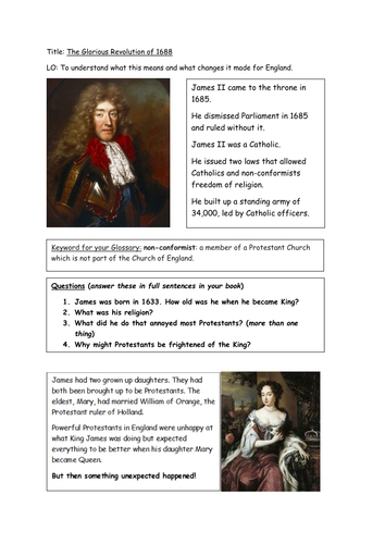 The Glorious Revolution of 1688