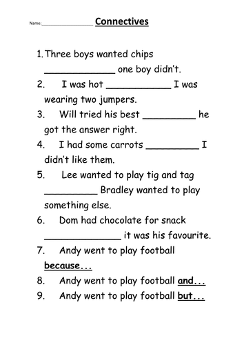 Using connectives by Clairecopp   Teaching Resources   Tes as well Connectives  and  but  because  by watsonmark25   Teaching Resources together with When vs  While   Grammar Quizzes together with Connectives Yr5 6 by matthewgreg   Teaching Resources   Tes additionally  moreover Sentence Openers Worksheet further And But So Because   All Things Grammar further 40 FREE Punctuation Worksheets moreover Free ESL  EFL printable worksheets and handouts additionally ytical essays music ysis essay help imaginative essay additionally Englishlinx     Conjunctions Worksheets in addition Cause and Effect Worksheets as well And But So Because   All Things Grammar likewise Essay writing vocabulary cheap custom coursework essay writing also Choose the connectives in addition 5 Answer Key Greater Than Less And Symbols Worksheets Less. on connectives worksheet for grade 5