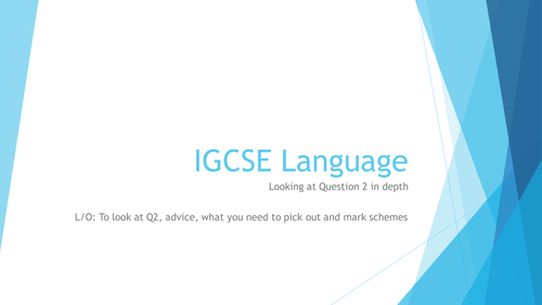 IGCSE English Language (extended paper) revision and mock test