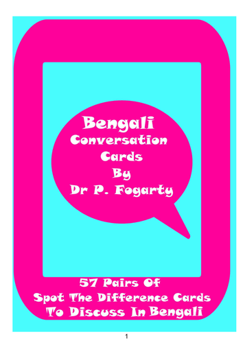 57 Bengali Setting Cards For Conversation Practice