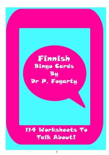 114 Finnish Bingo Game Cards