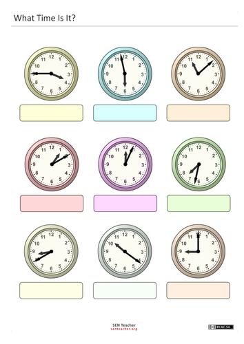 Read Analogue Clock Faces By Senteacherresources