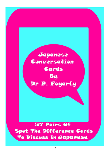 57 Japanese Setting Cards For Conversation Practice