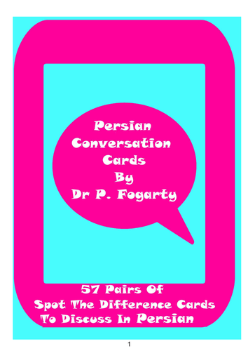 57 Persian Setting Cards For Conversation Practice