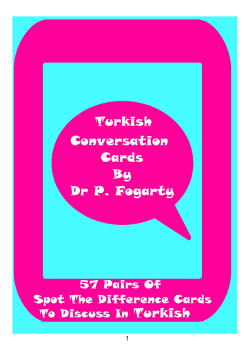 57 Turkish Setting Cards For Conversation Practice