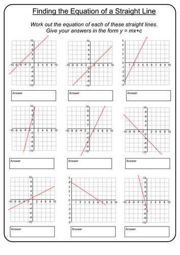 Equations Of Straight Lines By Prescotmaths Teaching