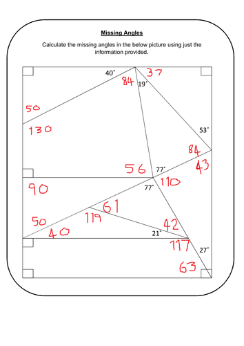 Missing Angles By Prescotmaths Teaching Resources